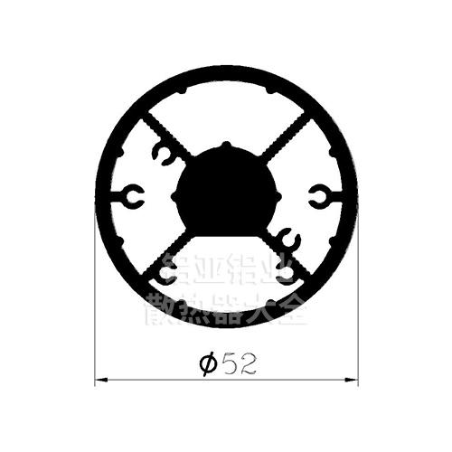 轨道灯散热器铝材