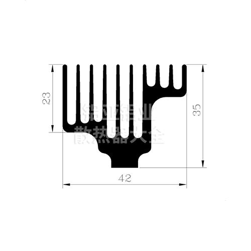 梳齿散热器铝型材