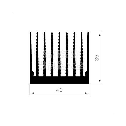 梳子散热器铝型材
