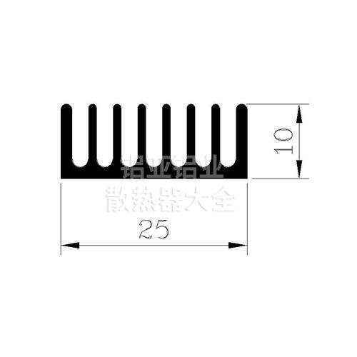梳子型散热器